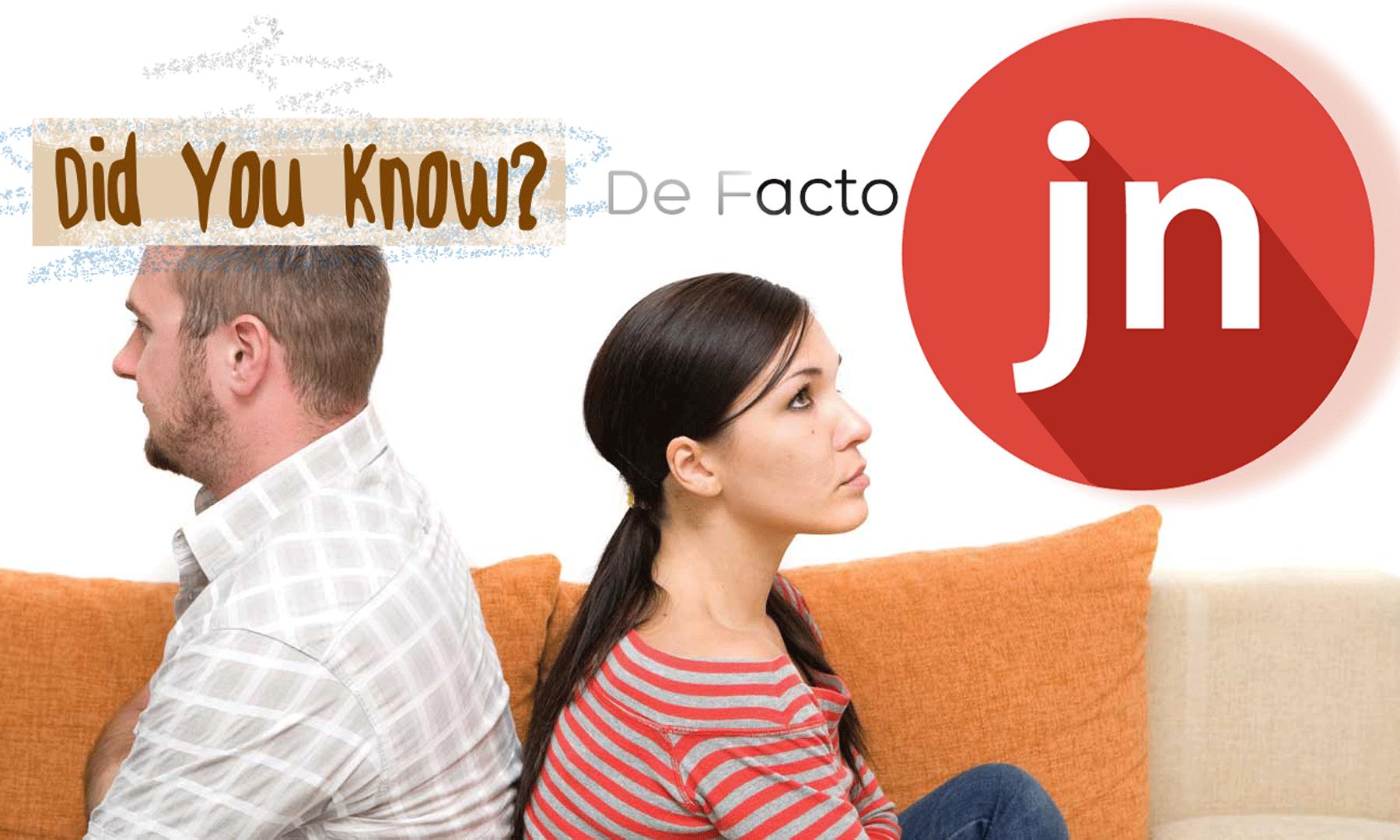 De Facto Separation – Did You Know?