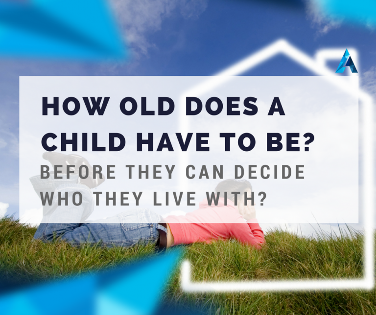 How old does a child have to be before they can decide who they live with qlds