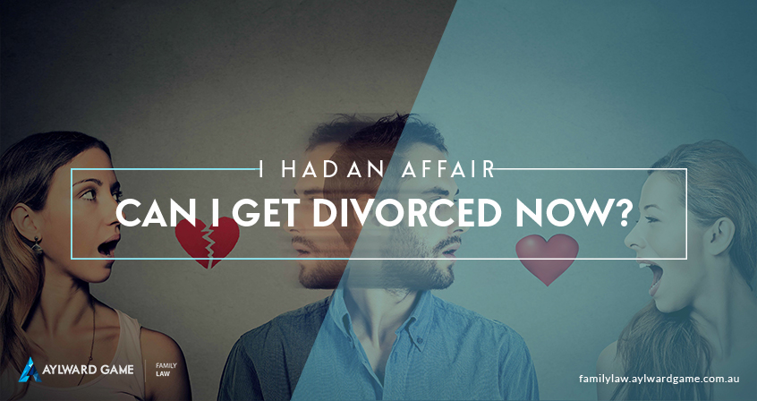 I had an affair – can I get divorced now?