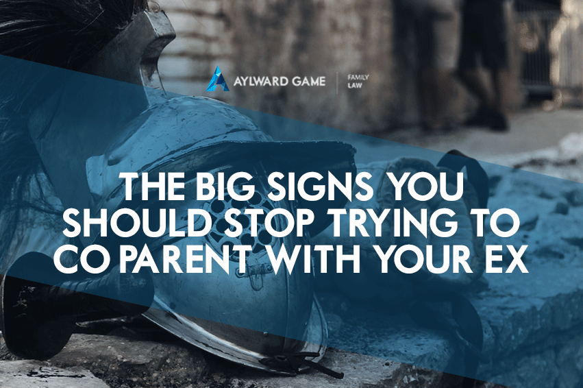 The BIG Signs You Should Stop Trying To Co-parent With Your Ex
