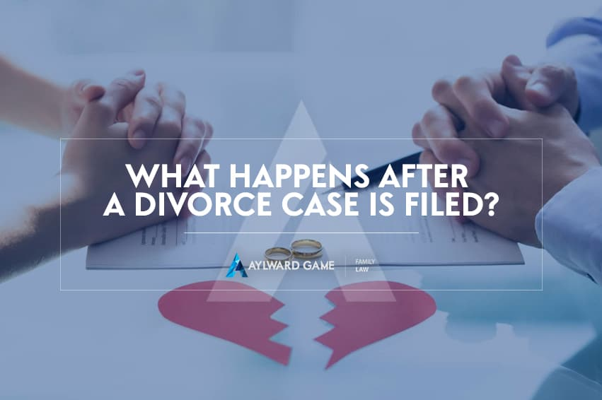 WHAT HAPPENS AFTER A DIVORCE CASE IS FILED?